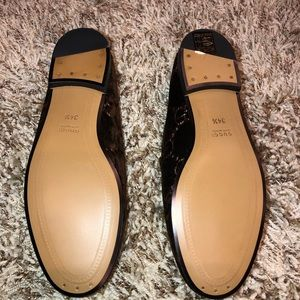 Gucci Shoes - Gucci Jordaan GG velvet loafer brown size 34.5